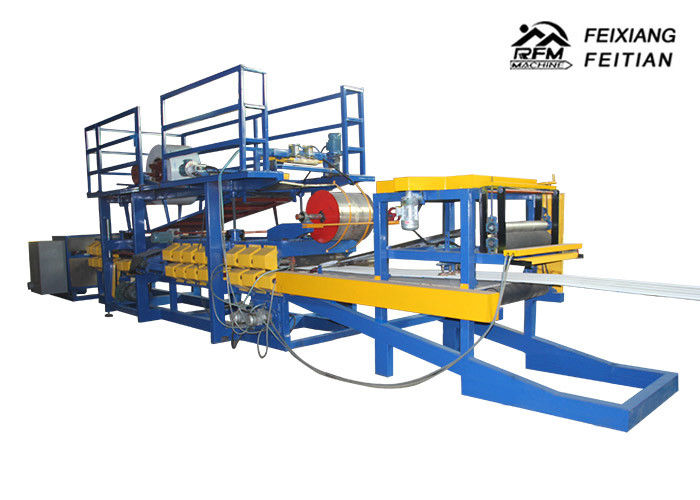EPS Sandwich Panel Production Line , Rock Wool Sandwich Panel Production Line