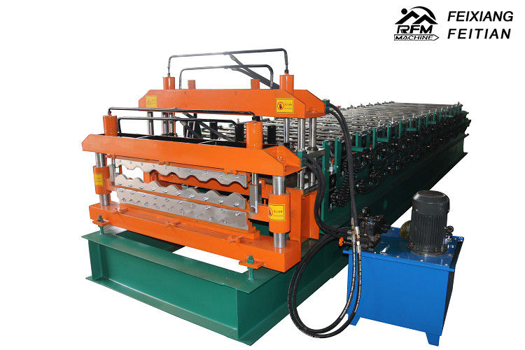 Full Automatic Double Layer Roll Forming Machine Easy Operate For Roof Panels