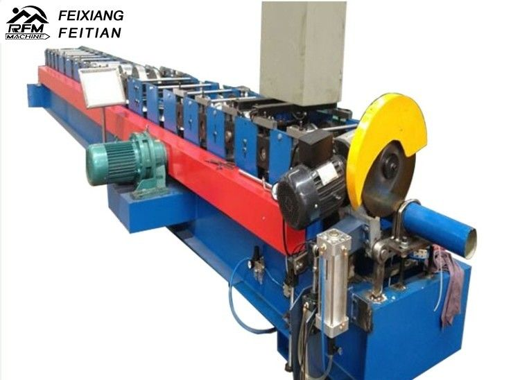Adjustable Downspout Roll Forming Machine 15m/Min Speed For Building Material